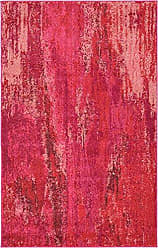 Unique Loom Jardin Collection Vibrant Abstract Pink Area Rug (3 x 5)