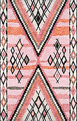 Momeni Rugs Momeni Rugs MARGEMGX-2PNK90C0 Margaux Table Tufted Contemporary Geometric Area Rug, 90 x 120, Pink