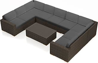 Harmonia Living Outdoor Harmonia Living Arden 10 Piece Surround Sectional Patio Conversation Set Indigo - HL-ARD-CH-10SEC-IN