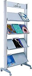 Paperflow EasyDisplays Single-Sided Literature Display, Metal Shelves, Large, 28.33 x 66 x 15 (12.A4TM.35)