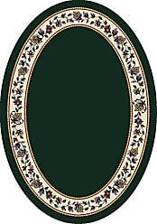 Milliken Carpet Signature Collection Symphony Oval Area Rug, 310 x 54, Emerald solid
