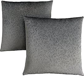 Monarch Specialties Decorative Throw Pillow, Floral Velvet, Dark Grey, 2pcs