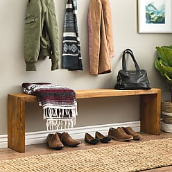 Strick & Bolton 60-inch Weathered Reclaimed Look Bench (.)