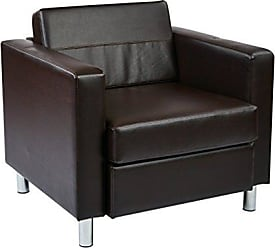 Office Star OSP Home Furnishings PAC51-V34 Pacific Armchair, Espresso