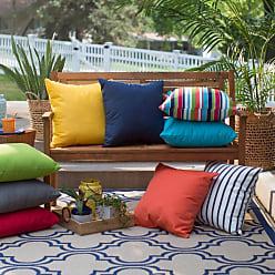 Belham Living Surfside 20 in. Sunbrella Outdoor Pillows - Set of 2 Carousel Confetti Stripe - HNPS5930