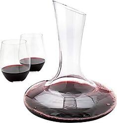Restaurantware RWG0049 BordeauxWare 50 oz Glass Large Slanted Wine Decanter HandBlown, Crystal 8 3/4 x 10 1/4 1 Count Box, 50 ounces, Clear