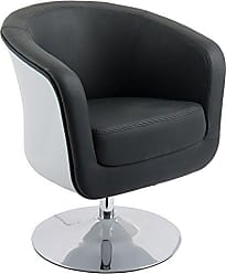 CorLiving DLN-200-C Mod Collection Accent Chair, Black/White