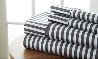 Noble Linens Ribbon Sheet Set by Noble Linens, Size: Queen - NL-4PC-RIBB-QUEE-GR