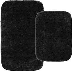 Garland Rug BA010W2P04J9 Traditional Bath Rug Set, 2-Piece Set, Black