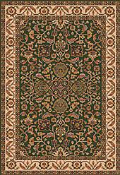 Milliken Carpet Pastiche Collection Abadan Octagon Area Rug, 77 x 77, Lance green