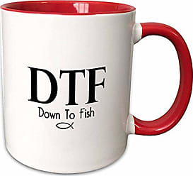 3D Rose 222143_5Dtf Down To Fish Two Tone Mug 11 oz Red
