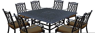Oakland Living Outdoor Oakland Living Morocco Aluminum 9 Piece Patio Dining Set with Square Table Brown - 7206T-7215C8-D54-17-AB