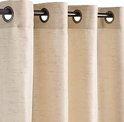 Ricardo Trading 54W x 108 L Grasscloth Grommet Top Outdoor Curtain Panel, Linen