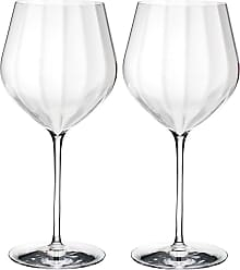 Waterford Optic Big Red Wine Glasses - Set of 2