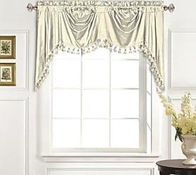 United Curtain 100-Percent Dupioni Silk Austrian Valance, 108 by 30-Inch, Oyster