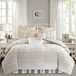 Madison Park Serendipity Duvet Cover Twin/Twin XL Size - Coral, Floral Duvet Cover Set - 7 Piece - 100% Cotton Light Weight Bed Comforter Covers