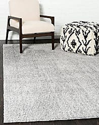 Unique Loom Serenity Solid Shag Collection Super Soft Micro Polyester Light Gray Area Rug (4 x 6)