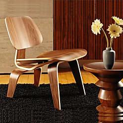 Rivatti Poltrona Cadeira Eames Lounge LCW Wood