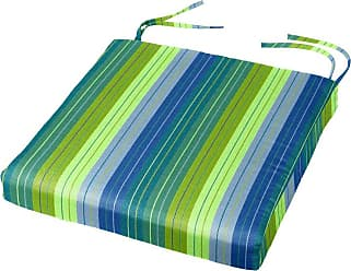 Cushion Source 19 x 18 in. Striped Sunbrella Chair Pad Foster Surfside - FSYHN-56049