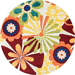 Loloi Rugs Loloi ISBEHIS01IVML300R Isabelle Area Rug, 3-0 x 3-0 Round, Ivory/Multi