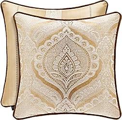 Five Queens Court Giodana 20 Square Decorative Throw Pillow, Gold, 20x20