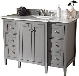 Baxton Studio Murray 48 in. Single Sink Bathroom Vanity - MURRAY-48-SLATE GREY