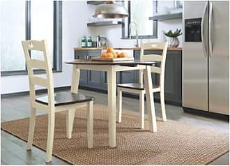 Ashley Furniture Woodanville 3-piece Dining Room, Cream/Brown