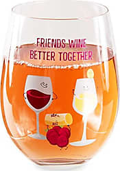 Pavilion Gift Company 74875 Friends Better Together-18 oz 18 oz Stemless Wine Glass Purple