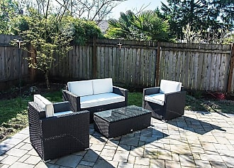 Overstock Outsunny 4-piece Outdoor Rattan Wicker Patio Furniture Set