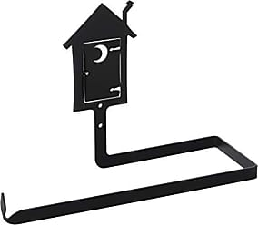 Village Wrought Iron 12 Inch Outhouse Paper Towel Holder Wall Mount