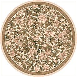 Milliken Carpet Pastiche Collection Delphi Round Area Rug, 77 x 77, Sand