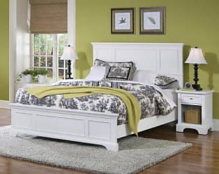 Home Styles Naples White Queen Bed & Night Stand by Home Styles