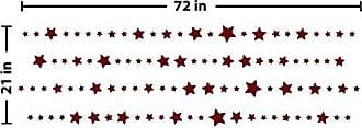 The Decal Guru Starry Night Wall Decal (Burgundy, 21 (H) X 72 (W))