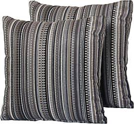 TK Classics Black Stripe 18 x 18 in. Outdoor Throw Pillow - Set of 2 - PILLOW-BLACKSTR-S-2X
