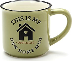 Enesco 6001257 Our Name is Mud New Home, 16 oz. Stoneware Camper Mug, Green