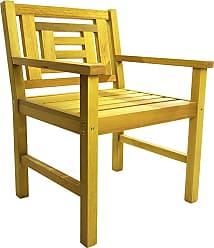 Mão & Formão Cadeira Poltrona Voltaire de Madeira - AmarelaAmarelo