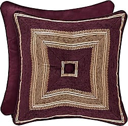 Five Queens Court Albina 18 Square Decorative Throw Pillow, Purple, 18x18