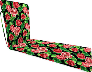 Jordan Manufacturing Company Classic Chaise Cushion with Ties, 76 x 23 x 3, in Cabbage Rose