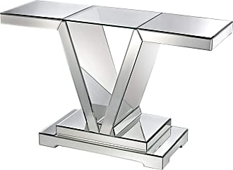 Dimond Home Mirrored Console Table With Clear Glass Top