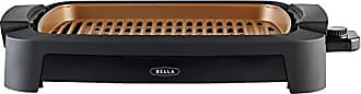 Bella (14750) 12 x 16 Inch Copper Titanium Coated Indoor Smokeless Grill Multifunction Grill & Skillet with Copper Nonstick Cooking Surface