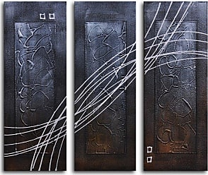 Omax Decor Strings Across Panels 3-Piece Canvas Wall Art - 36W x 32H in. - M 2063