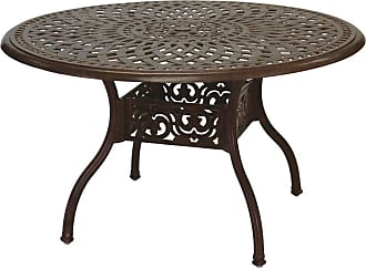 DARLEE Outdoor Darlee Series 60 Cast Aluminum 48 in. Round Dining Table, Patio Furniture - 201060-C-AB