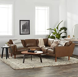 Strick & Bolton Beatnik Leather Sectional in Oxford Tan (Beatnik Sectional in Oxford Tan)