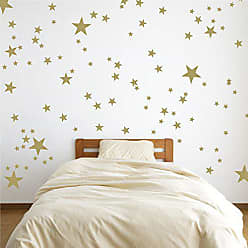 The Decal Guru Vinyl Star Wall Decal Stickers for Home Wall Decor Night Sky Removable Graphic Transfers for Nursery or Kids Room, 48 x 55, Gold