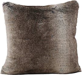 GDF Studio Christopher Knight Home Ellison Ash White Decorative Faux Fur Fabric Throw Pillow | Ideal for The Living Room or Bedroom | Plush Texture