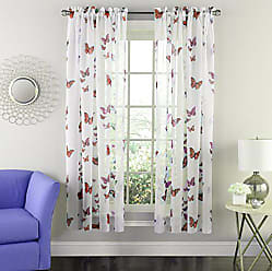 Sweet Home Collection Window Curtains Treatment Panel 63 or 84 Long in Stylish and Unique Patterns and Designs for All Home Décor Butterflies Pink