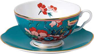 Wedgwood Paeonia Teacup & Saucer - Green