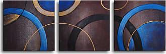 Omax Decor Circulation 3-Piece Canvas Wall Art - 60W x 20H in. - M 2284