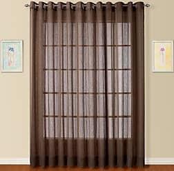 United Curtain Dakota Window Curtain Panel, 100 by 84-Inch, Chocolate