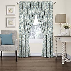 Ellery Homestyles Waverly 15402052084CRF Charmed Life 52-Inch by 84-Inch Toile Single Window Curtain Panel, Cornflower